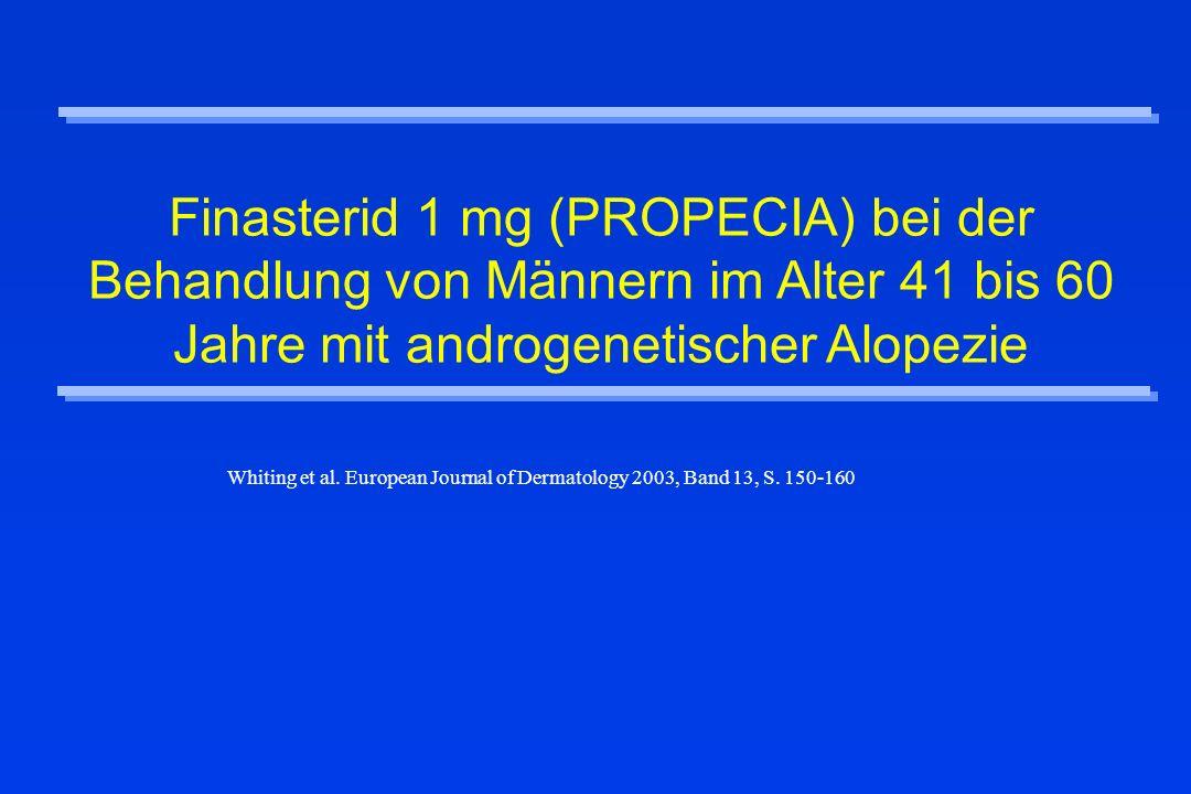 Finasterid 1 mg (PROPECIA) bei der