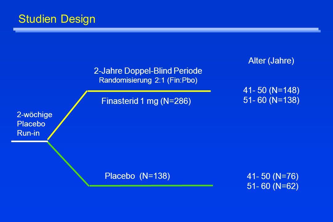 Studien Design Alter (Jahre) 41- 50 (N=148) 51- 60 (N=138)