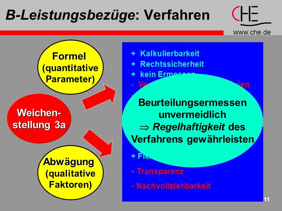 B-Leistungsbezüge: Verfahren