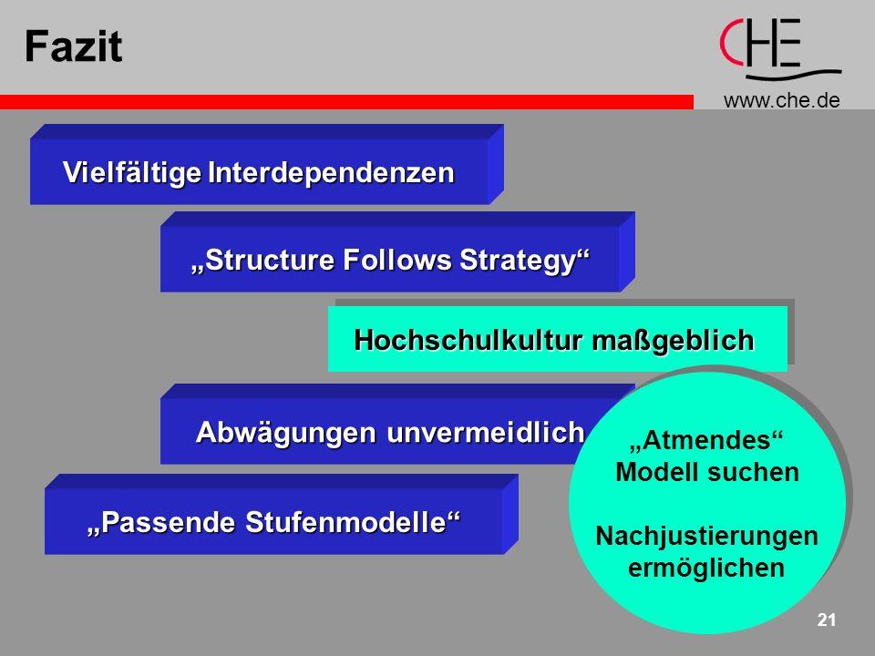 """Fazit Vielfältige Interdependenzen """"Structure Follows Strategy"""
