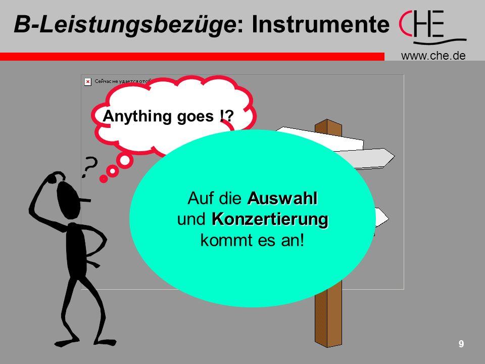 B-Leistungsbezüge: Instrumente
