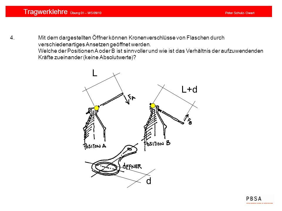 Tragwerklehre Übung 01 – WS 09/10 Peter Schulz- Owart