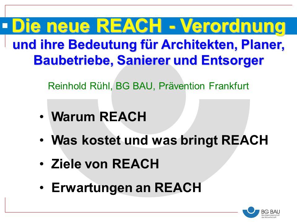 Die neue REACH - Verordnung