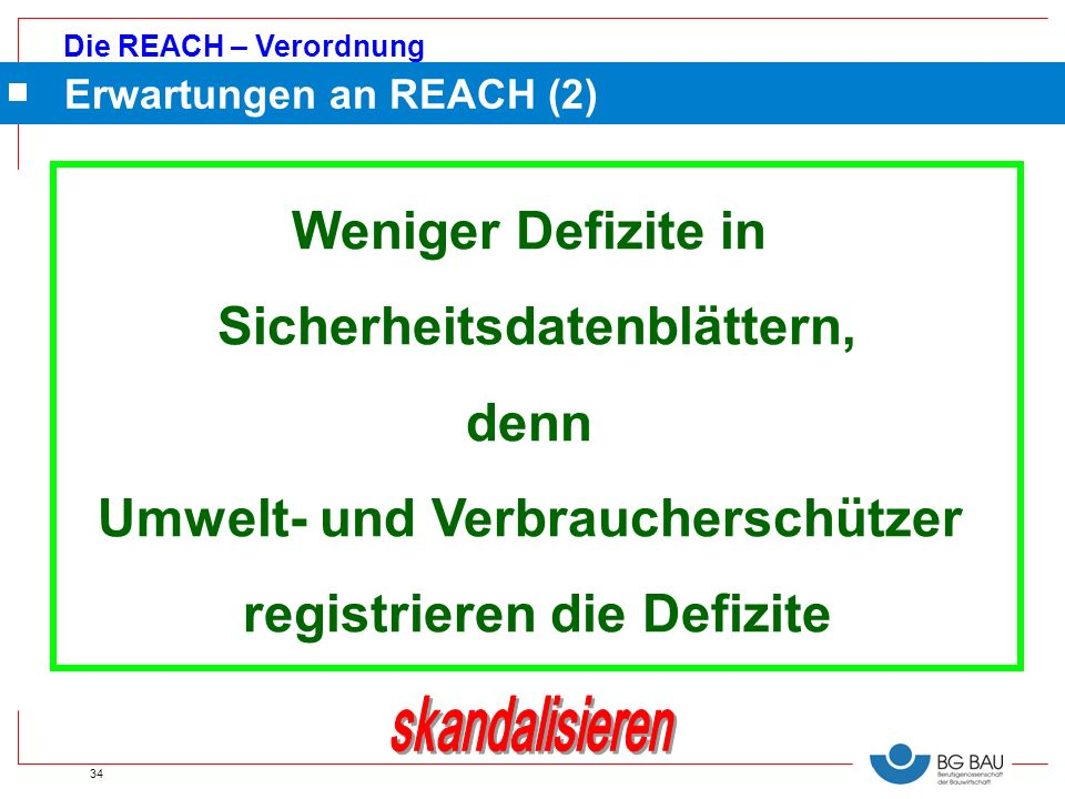 Erwartungen an REACH (2)