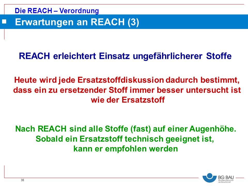 Erwartungen an REACH (3)