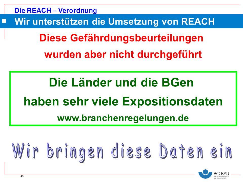 Wir unterstützen die Umsetzung von REACH