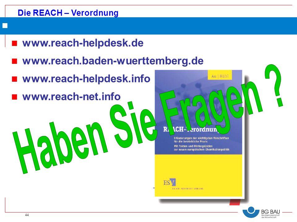 Haben Sie Fragen www.reach-helpdesk.de