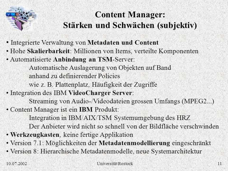 Content Manager: Stärken und Schwächen (subjektiv)