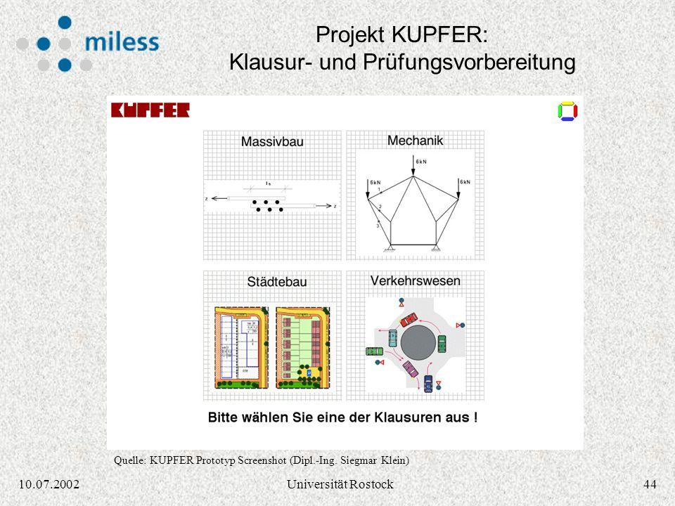 Projekt KUPFER: Klausur- und Prüfungsvorbereitung