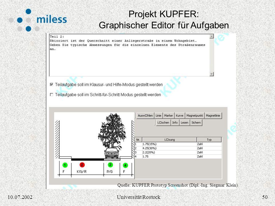 Projekt KUPFER: Graphischer Editor für Aufgaben