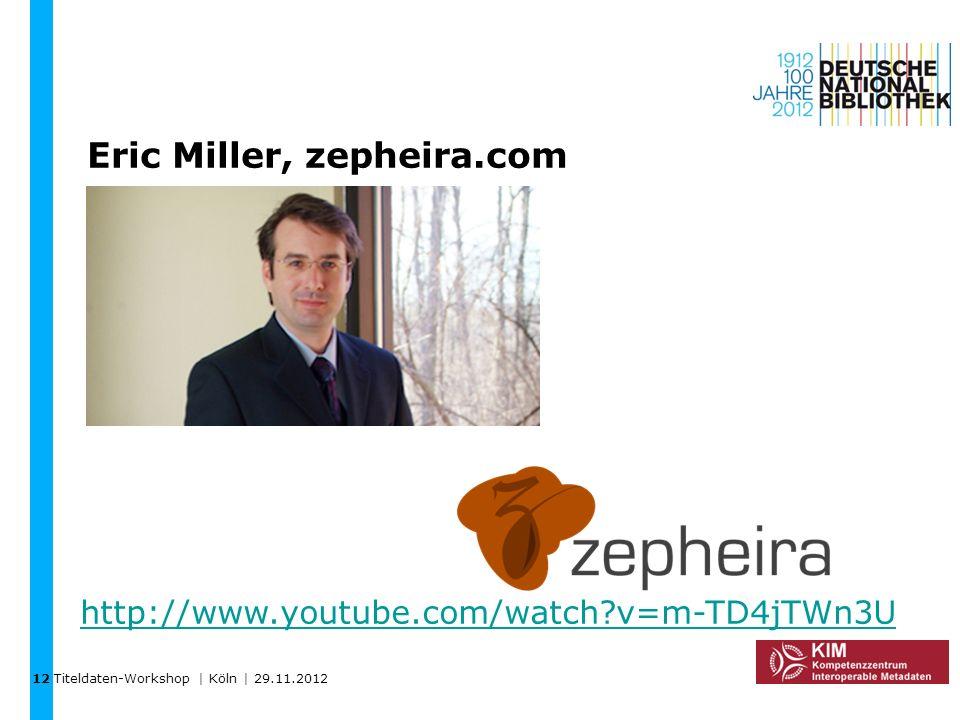 Eric Miller, zepheira.com