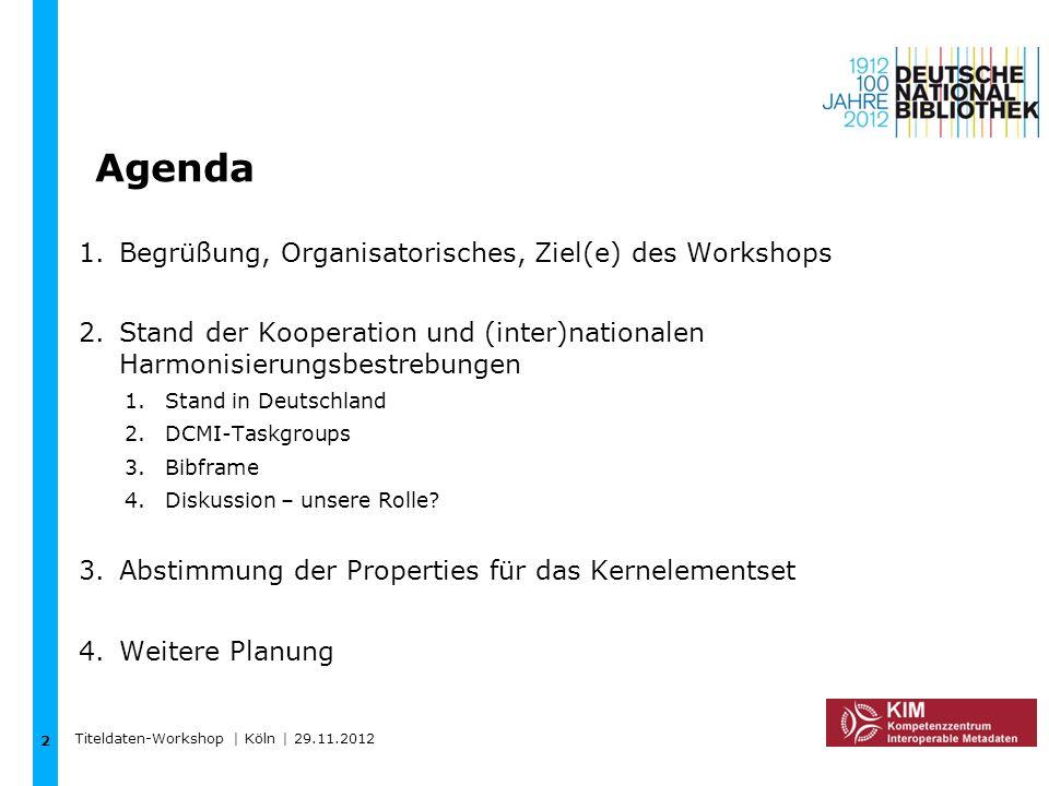 Agenda Begrüßung, Organisatorisches, Ziel(e) des Workshops