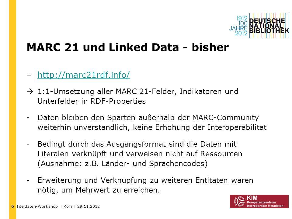 MARC 21 und Linked Data - bisher