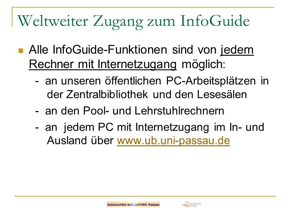 Weltweiter Zugang zum InfoGuide