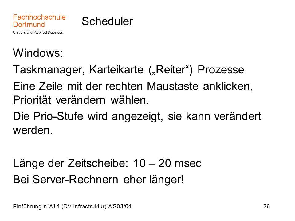 """Taskmanager, Karteikarte (""""Reiter ) Prozesse"""