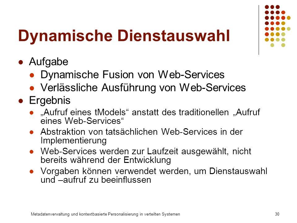 Dynamische Dienstauswahl