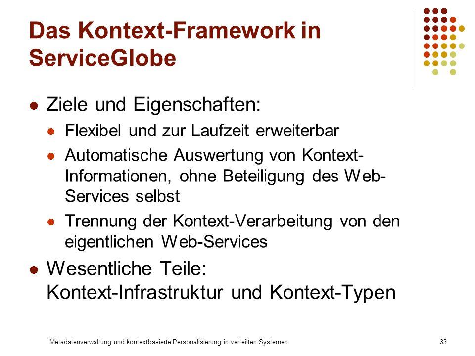Das Kontext-Framework in ServiceGlobe