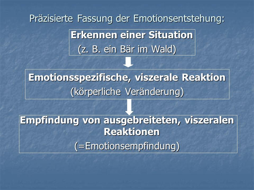 Präzisierte Fassung der Emotionsentstehung: