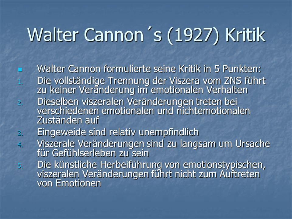 Walter Cannon´s (1927) Kritik