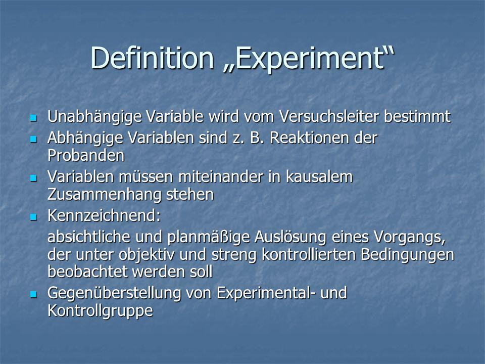 "Definition ""Experiment"