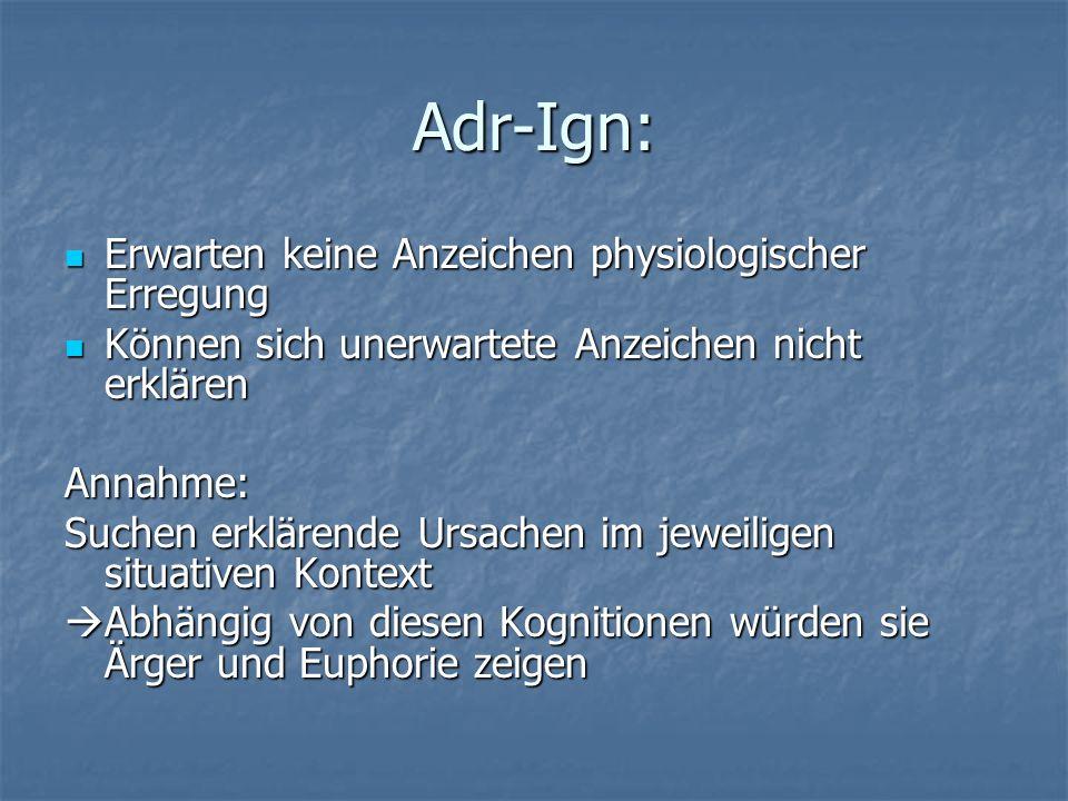 Adr-Ign: Erwarten keine Anzeichen physiologischer Erregung