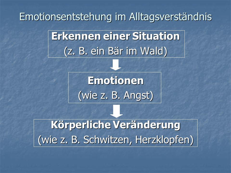 Emotionsentstehung im Alltagsverständnis