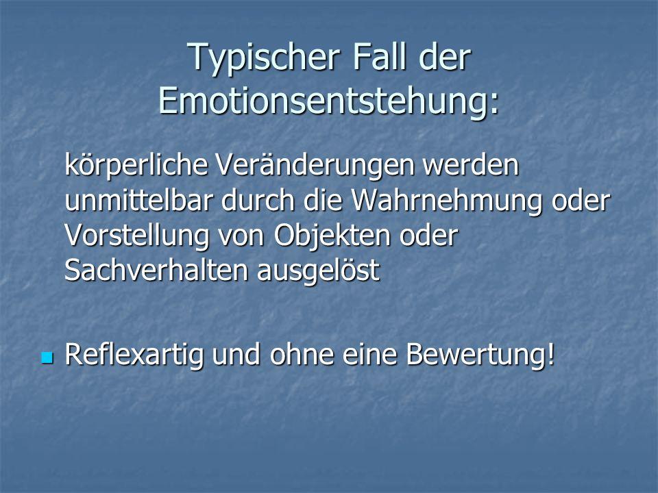 Typischer Fall der Emotionsentstehung: