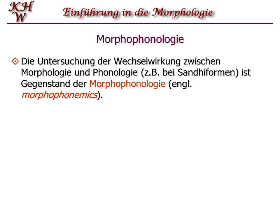 Morphophonologie