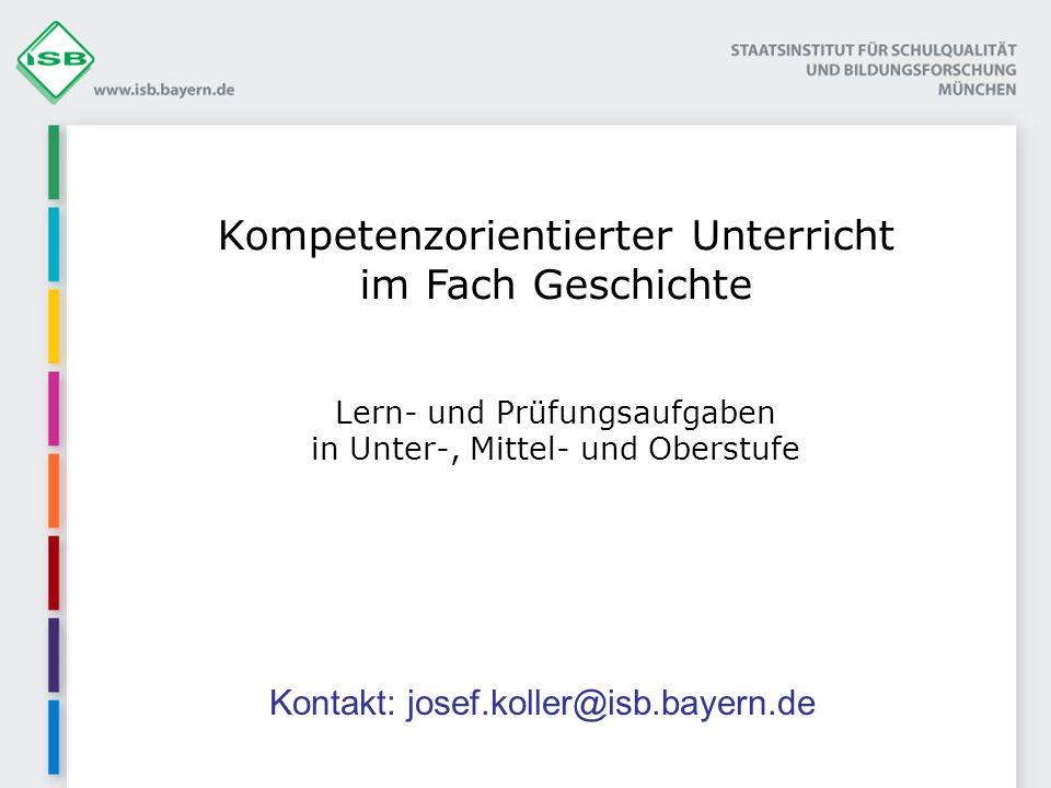 Kontakt: josef.koller@isb.bayern.de
