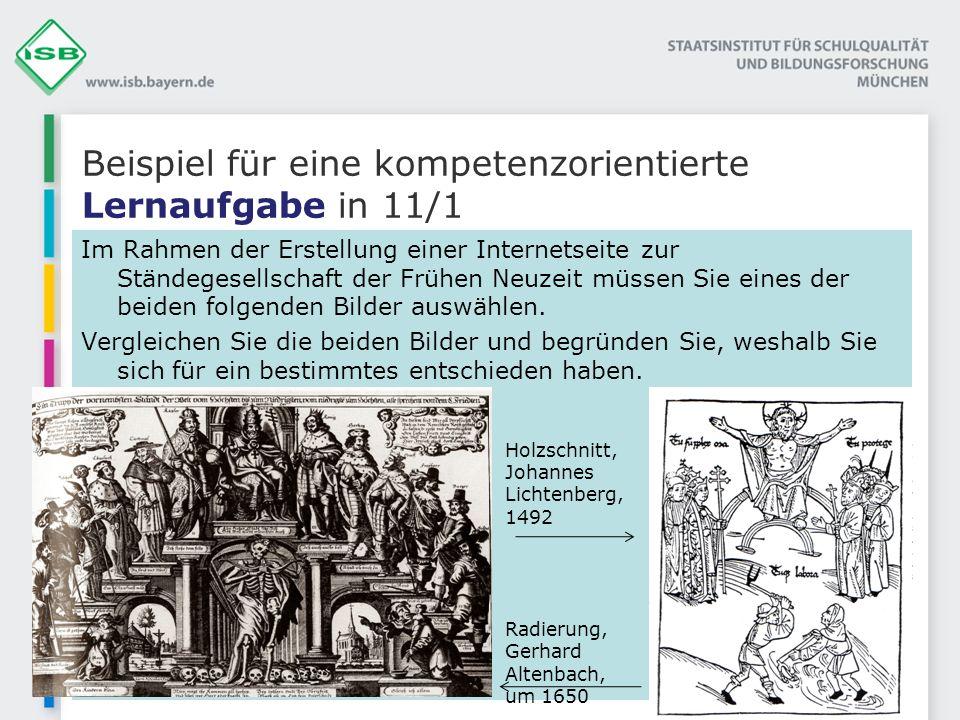 Beispiel für eine kompetenzorientierte Lernaufgabe in 11/1