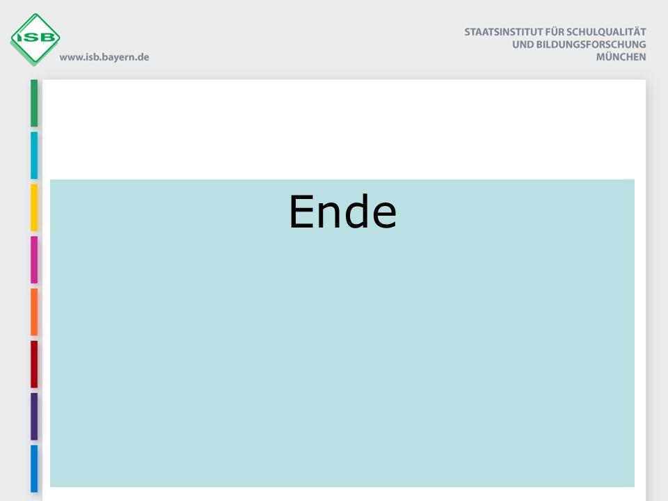 Ende © ISB – Elisabeth Mayr