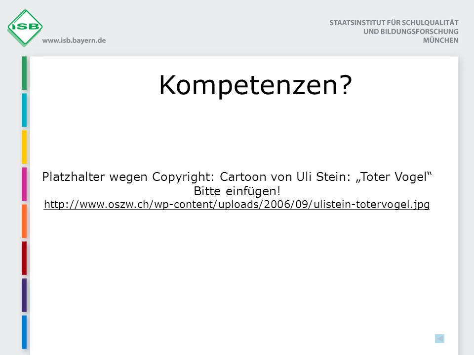 """Platzhalter wegen Copyright: Cartoon von Uli Stein: """"Toter Vogel"""
