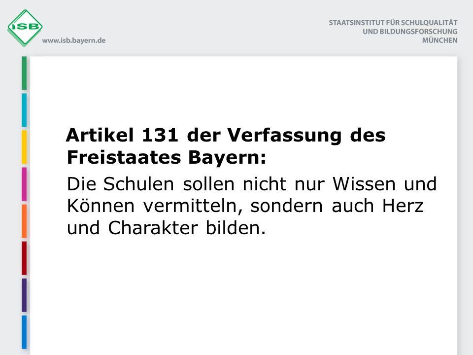Artikel 131 der Verfassung des Freistaates Bayern: