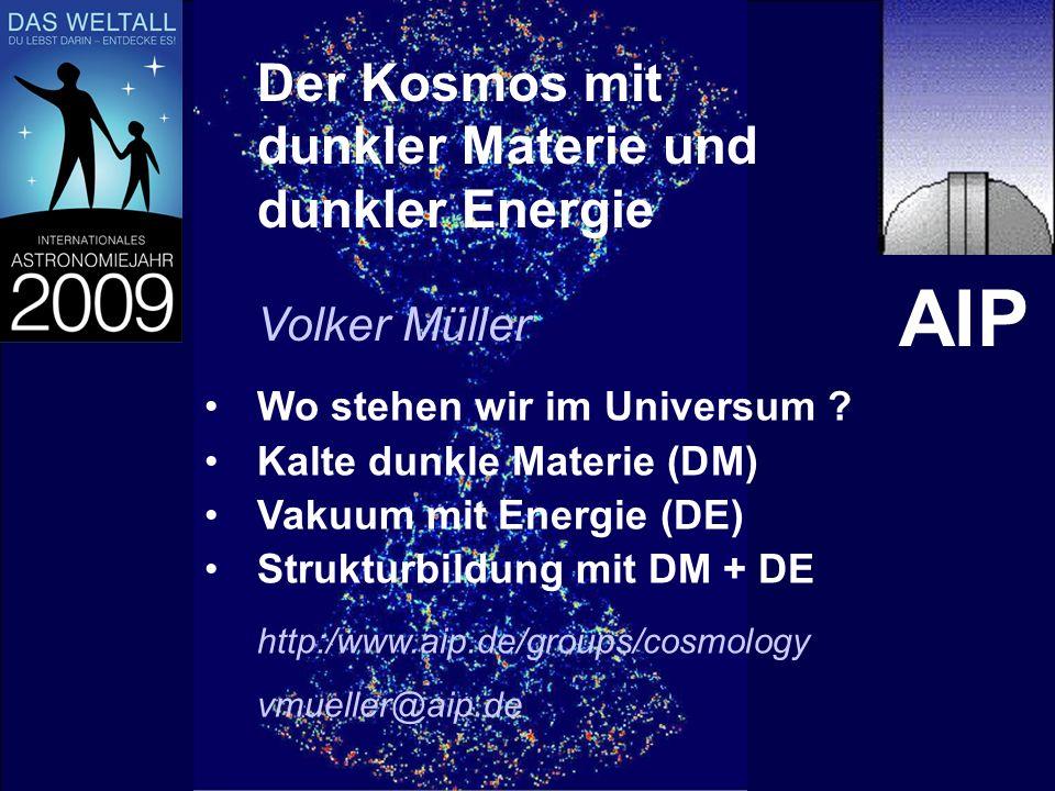 AIP Der Kosmos mit dunkler Materie und dunkler Energie Volker Müller