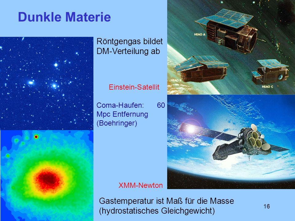 Dunkle Materie Röntgengas bildet DM-Verteilung ab