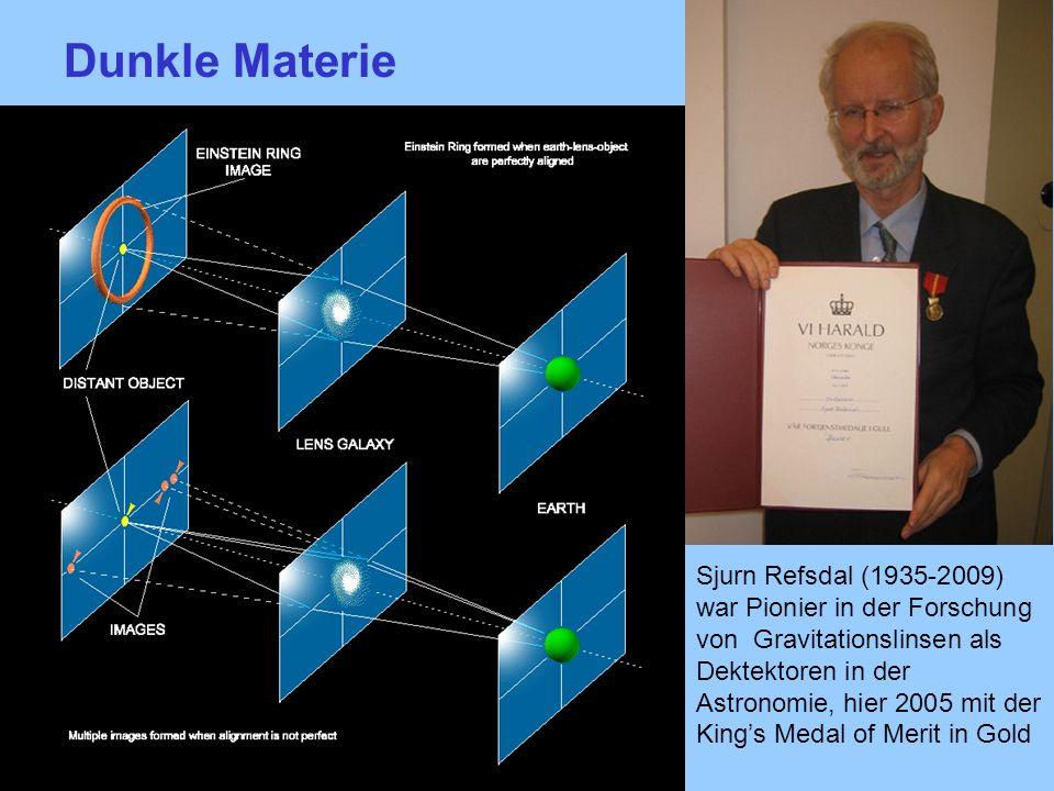 Dunkle MaterieDunkle Materie aus dem Gravitationslinseneffekt.