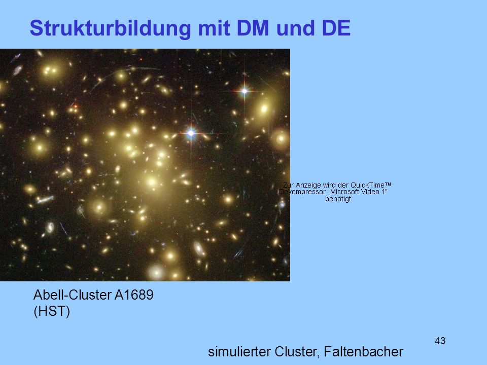 Strukturbildung mit DM und DE