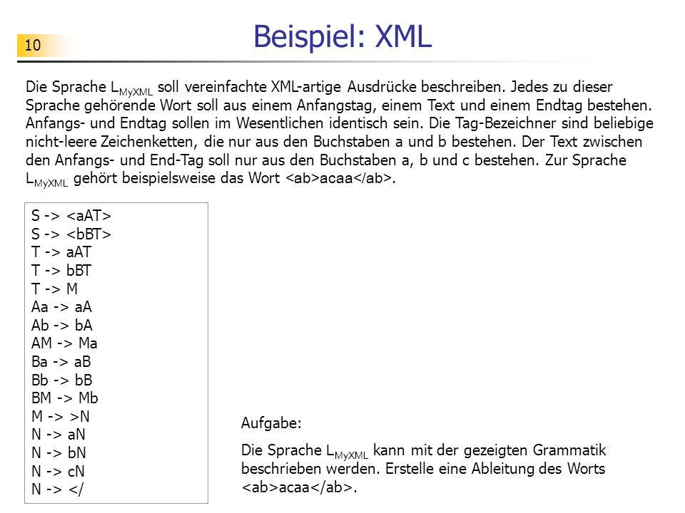 Beispiel: XML