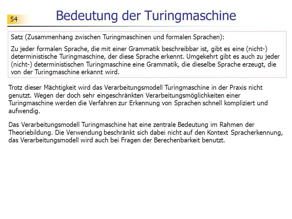 Bedeutung der Turingmaschine