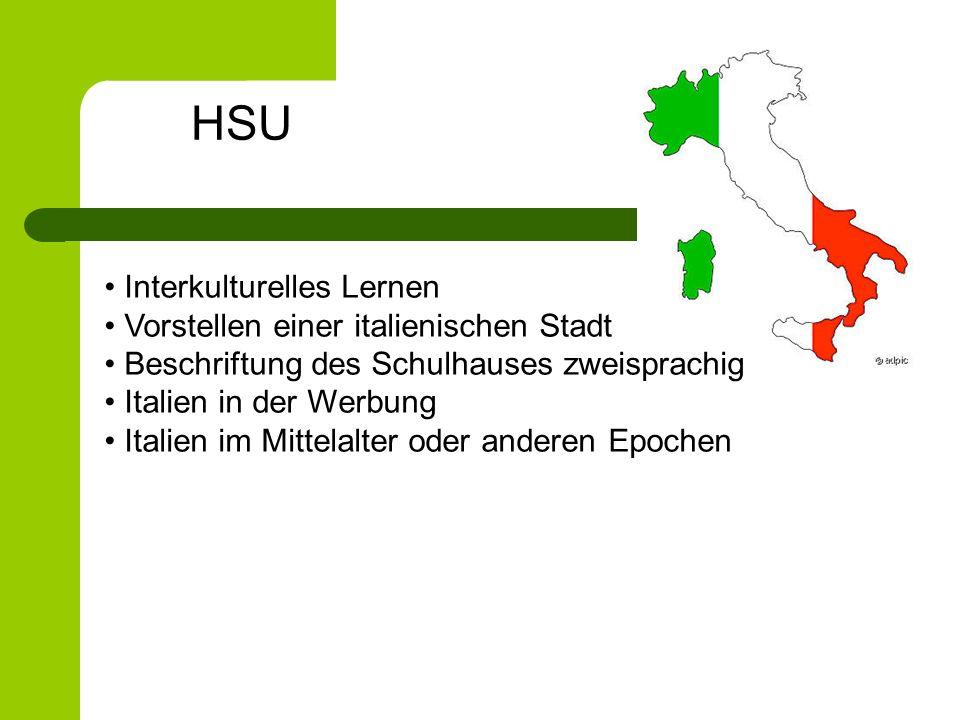 HSU Interkulturelles Lernen Vorstellen einer italienischen Stadt