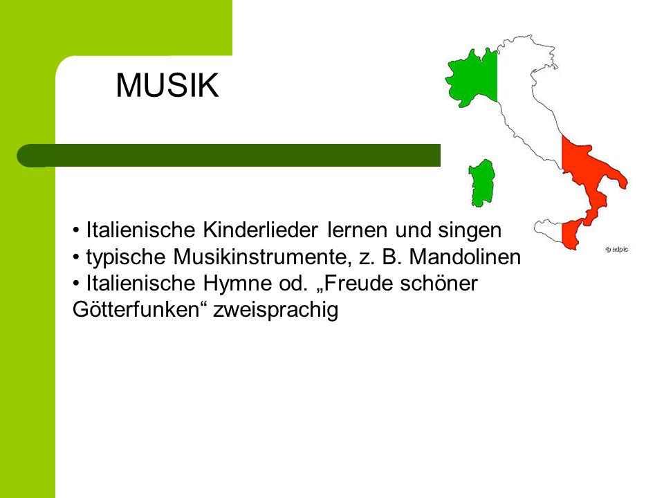 MUSIK Italienische Kinderlieder lernen und singen