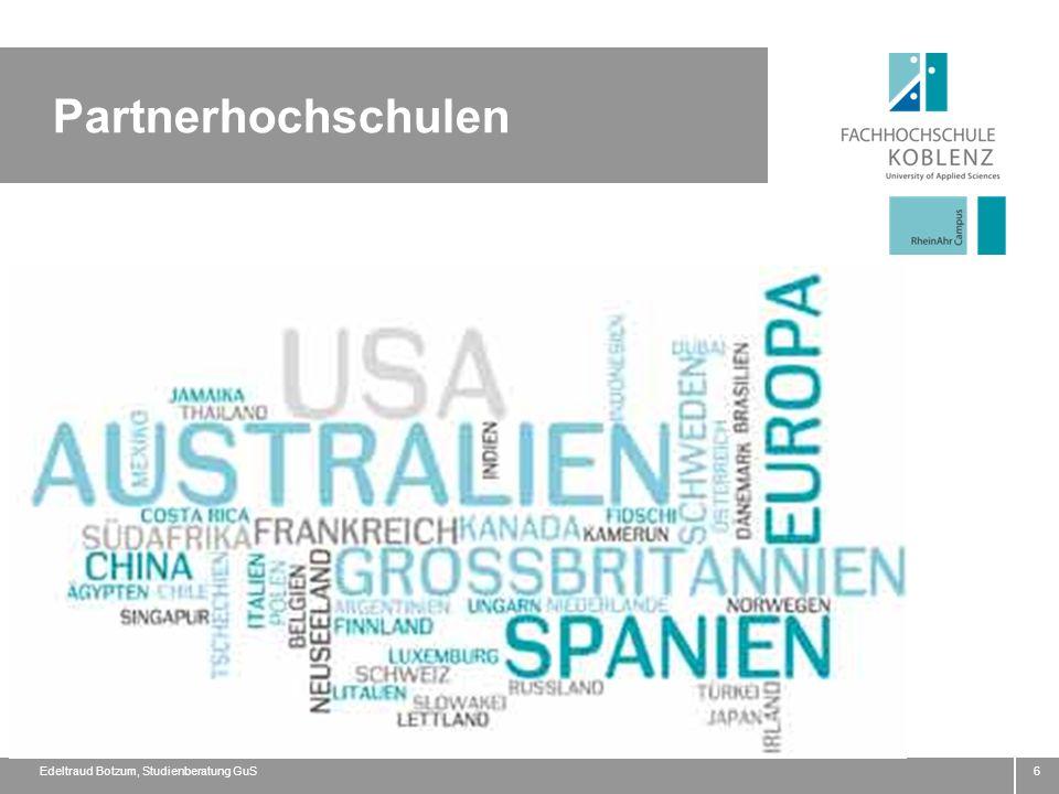 Partnerhochschulen Edeltraud Botzum, Studienberatung GuS