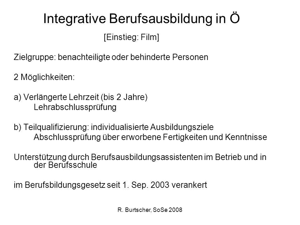 Integrative Berufsausbildung in Ö