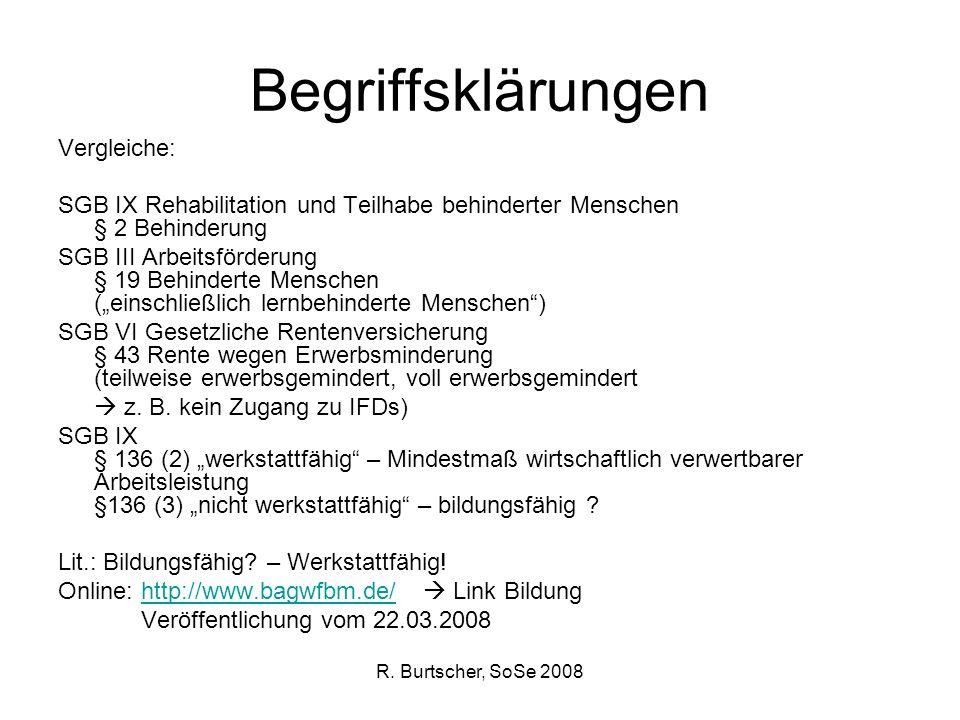 Begriffsklärungen Vergleiche: