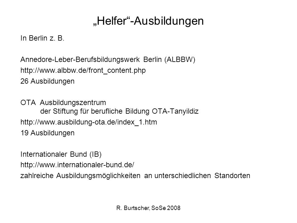 """""""Helfer -Ausbildungen"""