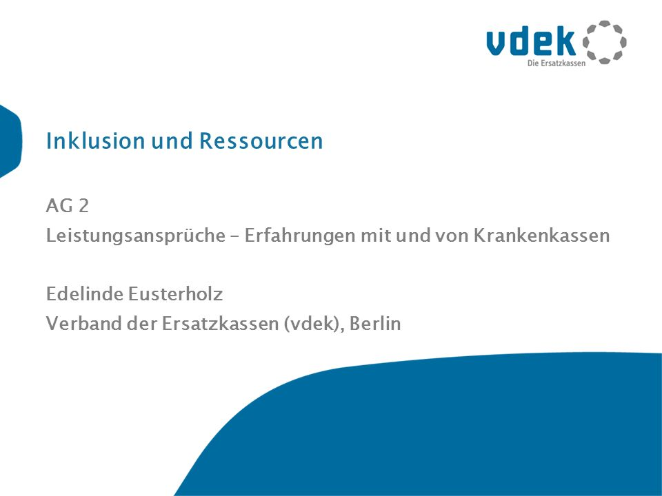 Inklusion und Ressourcen