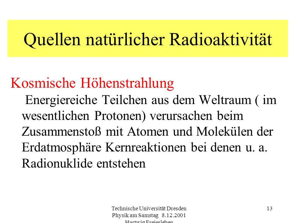 Quellen natürlicher Radioaktivität