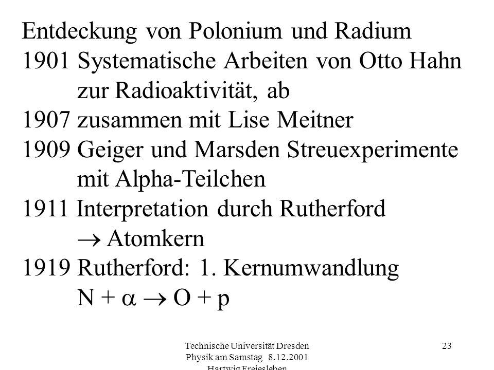 Entdeckung von Polonium und Radium