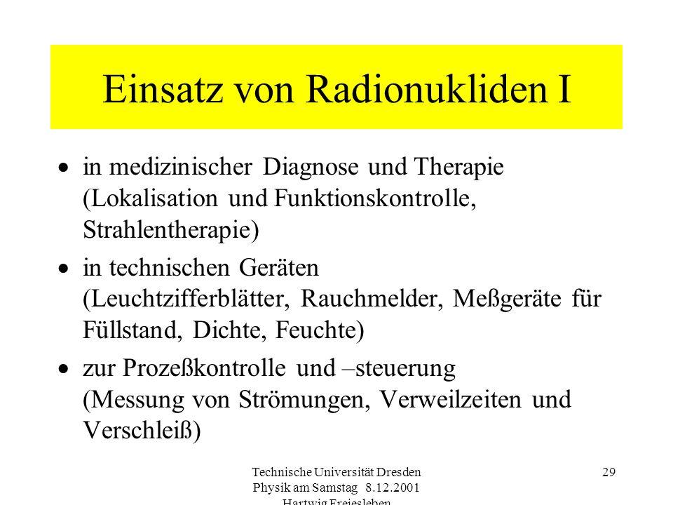 Einsatz von Radionukliden I
