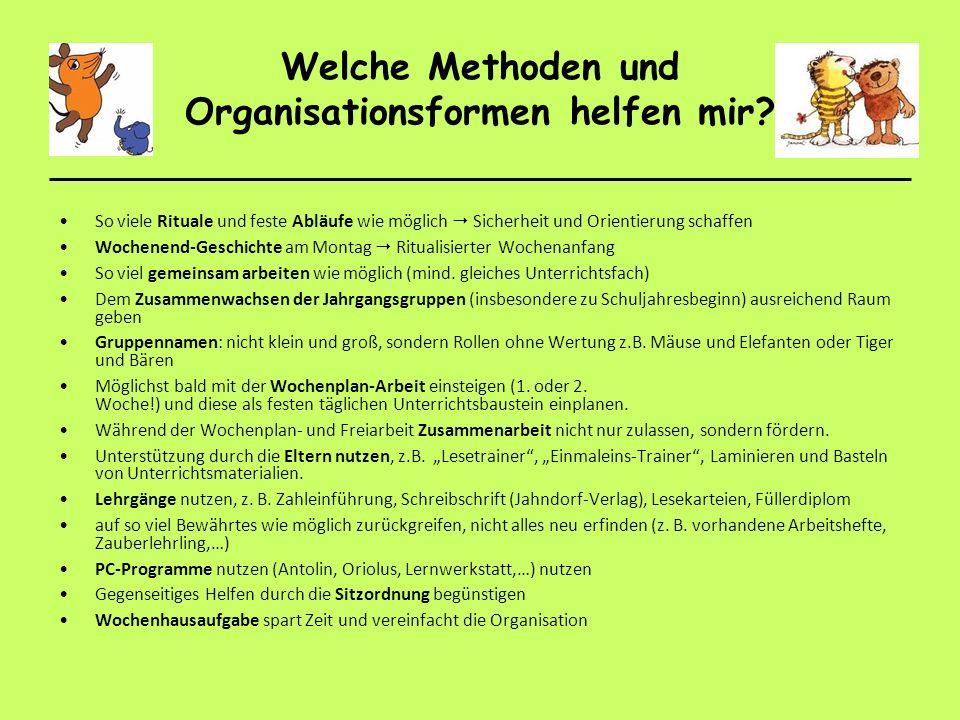 Welche Methoden und Organisationsformen helfen mir